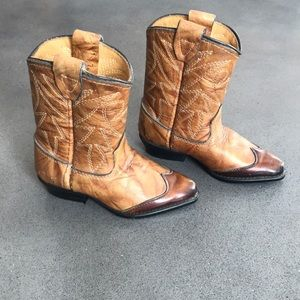 Real leather made in Texas cowboy boots